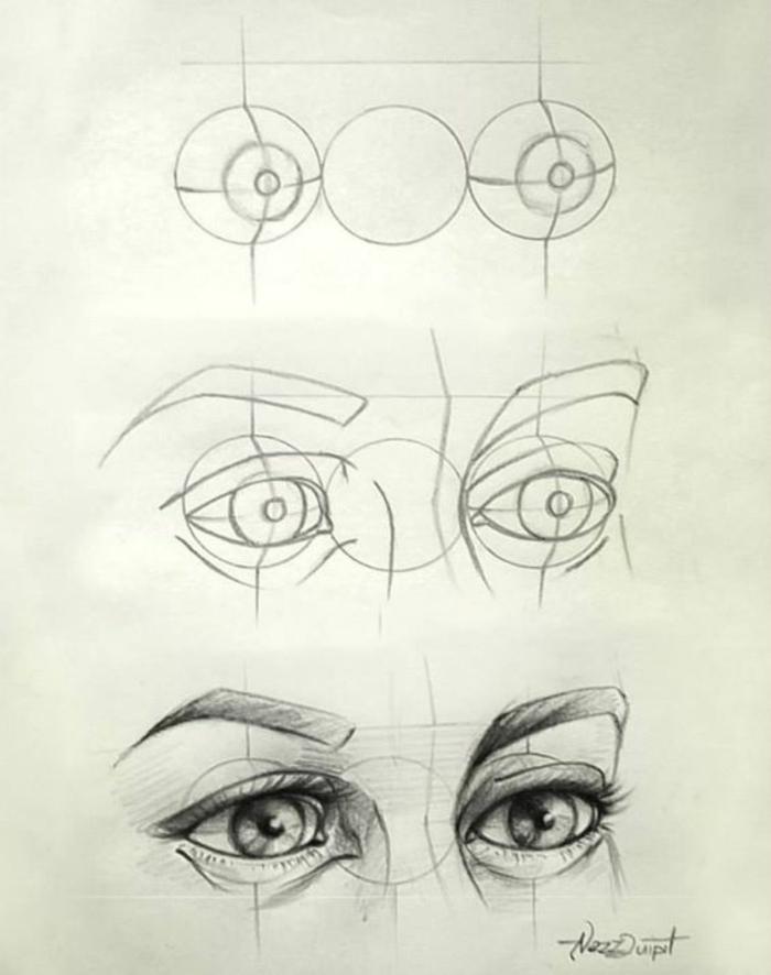 Rappresentazione grafica di un viso, disegno a matita