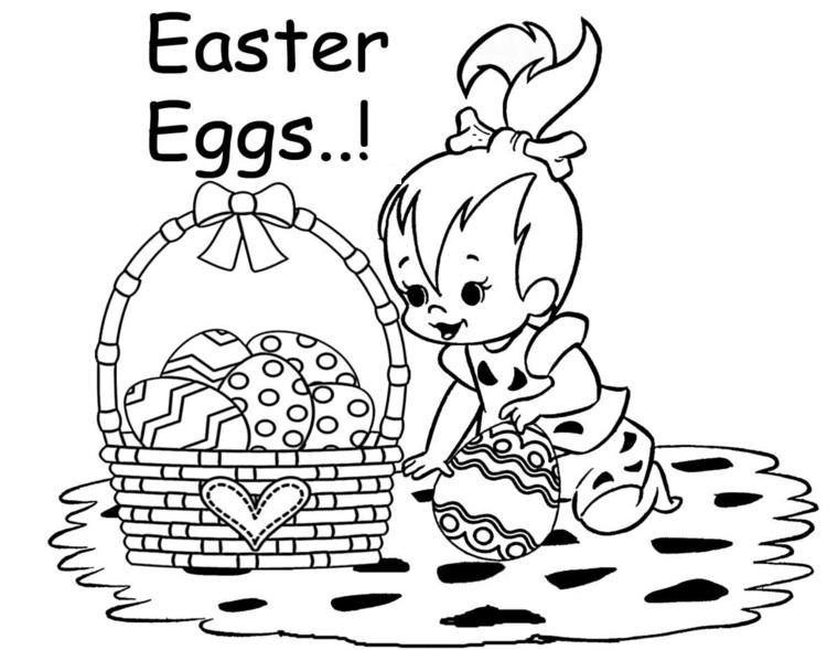 Personaggio dei Flinstone, cestino con uova pasquali, decorare uova di Pasqua