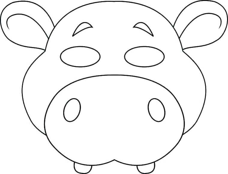 Travestimento da animale, disegno da ritagliare, maschere per bambini