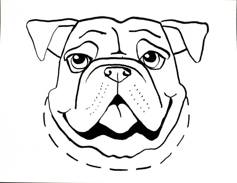 Disegno di un cane, maschere da colorare, travestimento per carnevale