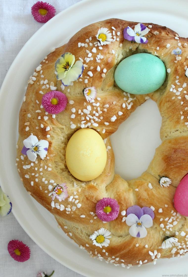 Addobbi pasquali, colomba pasquale, uova dipinte per pasqua