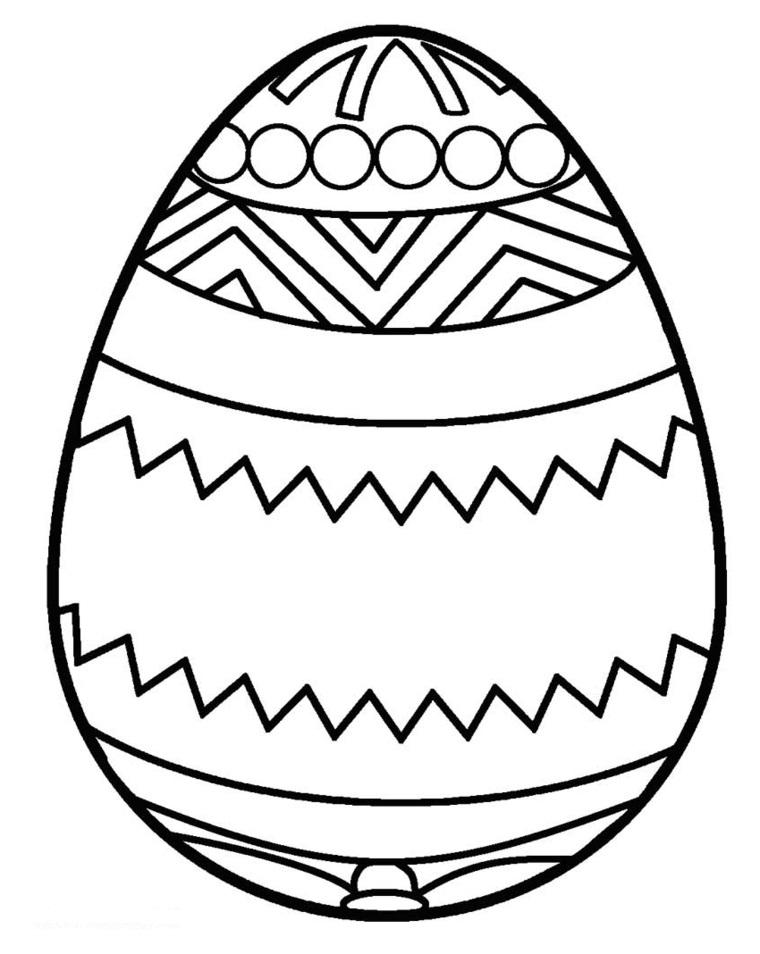 Disegni di Pasqua, disegno di un uovo, uovo con ornamenti