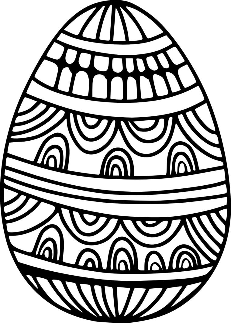 Decorare uova di Pasqua, uovo con ornamenti, uovo da colorare