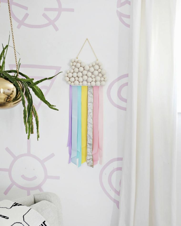 Decorazioni da appendere, parete decorata, attività ludiche per bambini