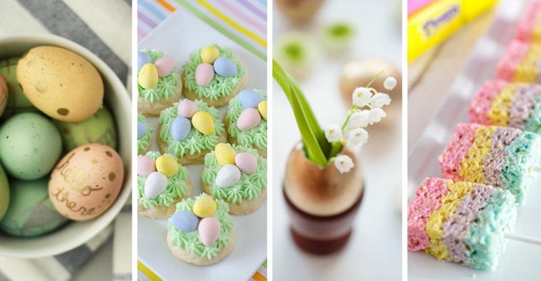 Uova decorate con scritta, lavoretti creativi pasqua, dolce colorato su bastoncino