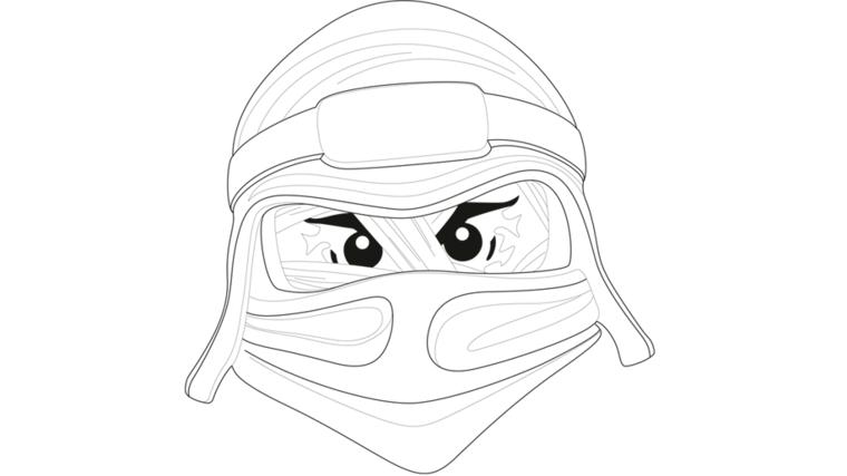 Disegni maschere di carnevale, disegno di una ninja, disegno per bambini da colorare