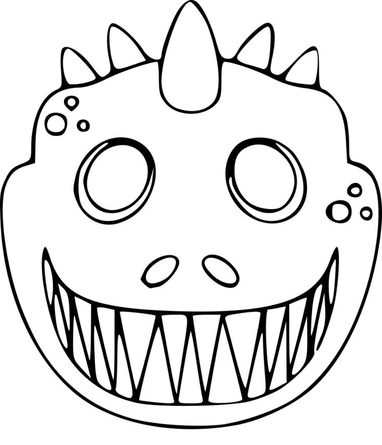 Disegni da colorare carnevale, disegno di un dinosauro