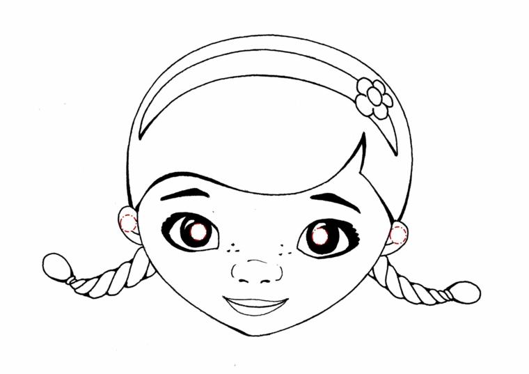 Maschere di carnevale per bambini, disegno di Dottoressa Peluche