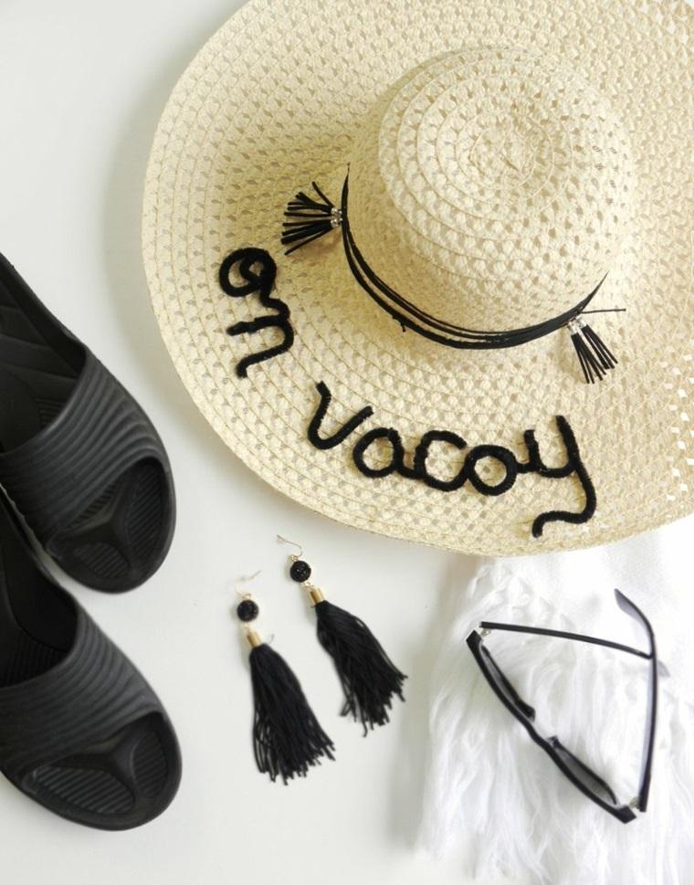 Lavoretti per bambini facili, cappello estivo decorato, orecchini con fili