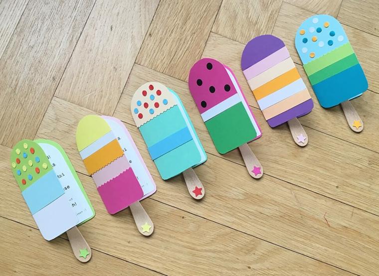 Quaderni forma gelato, laboratori creativi per bambini idee