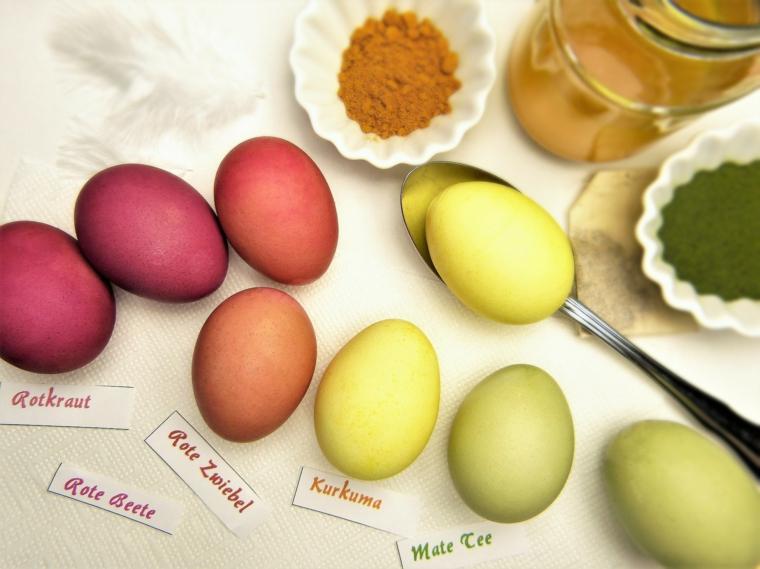 Uova dipinte, uova di Pasqua fai da te, coloranti naturali per uova