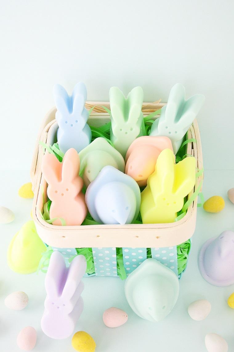 Sapone a forma di coniglietti, lavoretti di pasqua scuola primaria