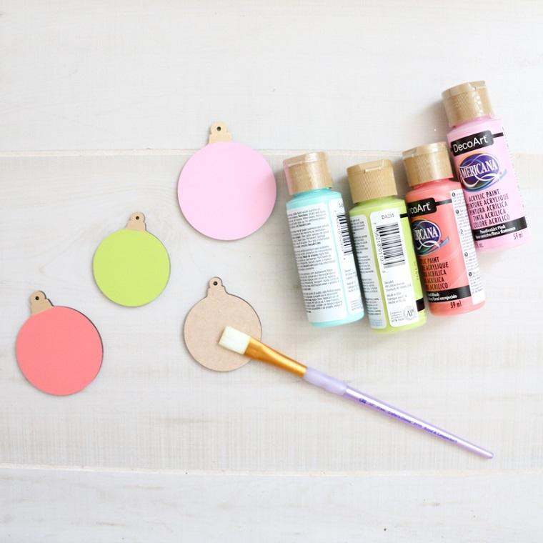 Colori acrilici, lavoretti di Natale facili, pennello per dipingere