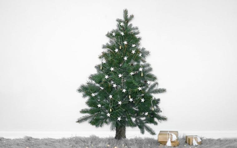 Albero di Natale, ghirlanda con stelle, lavoretti per bambini facili