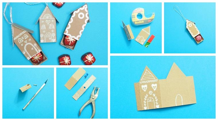 Tutorial casetta di cartone, materiali di carta, lavoretti creativi Natale