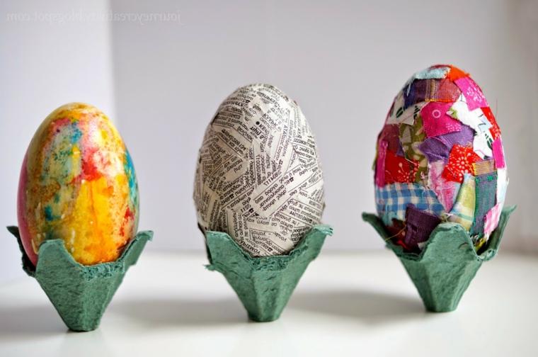 Uova decorati con decoupage, decorazioni pasquali