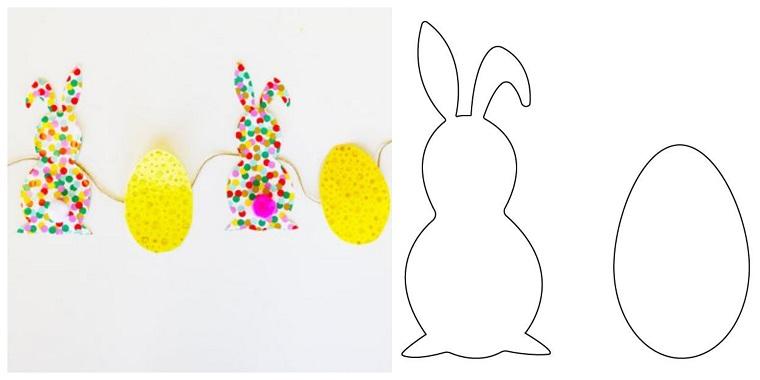 Decorazioni pasquali fai da te tutorial, ghirlanda con coniglietti