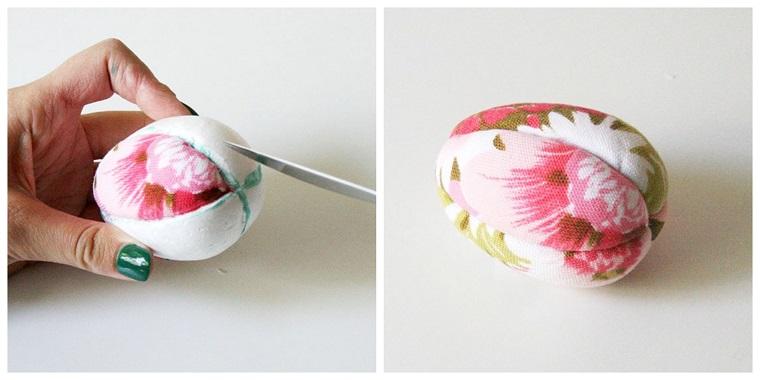 Tutorial per decorare uovo di polistirolo, lavoretti pasquali per bambini
