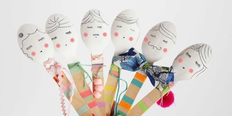 Laboratori creativi per bambini idee, cucchiaio di legno, cucchiai dipinti
