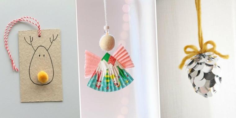 Laboratori creativi per bambini idee, decorazioni da appendere, addobbi natalizi