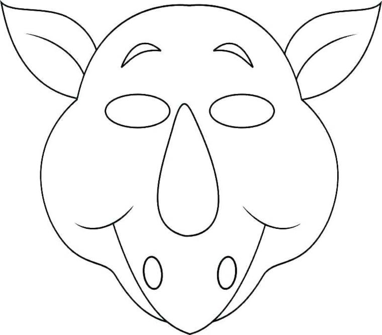 Maschere di carnevale per bambini, disegno di un animale