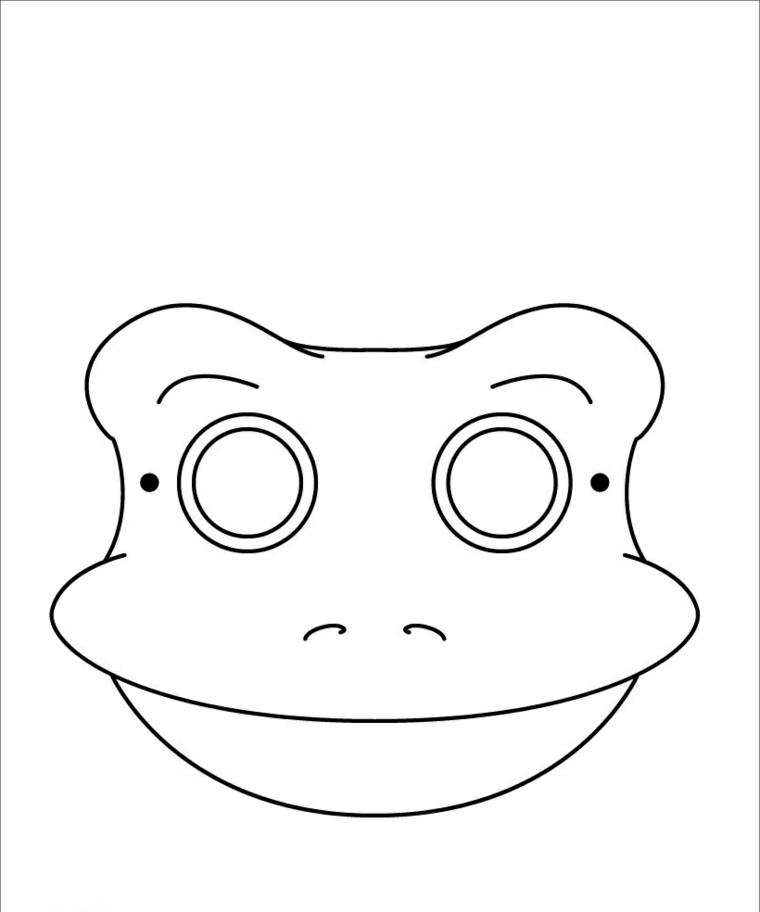 Disegno di una rana, disegni carnevale da colorare