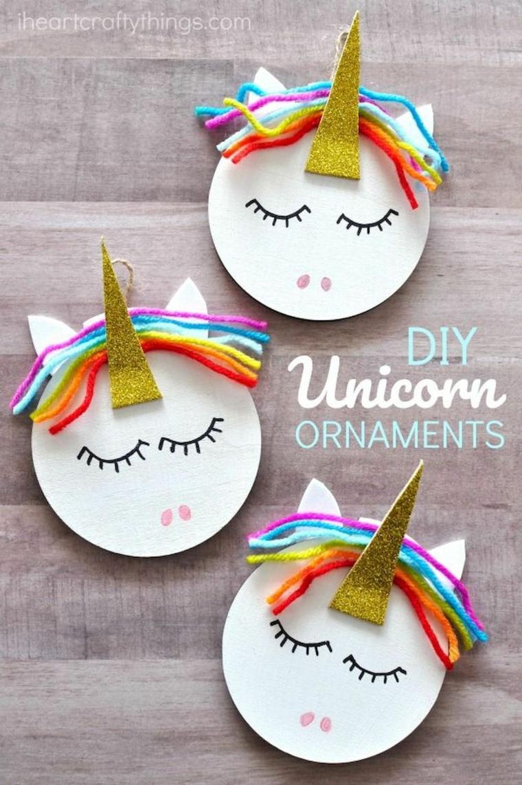 Piatti di carta, piatto con unicorno, attività ludiche per bambini