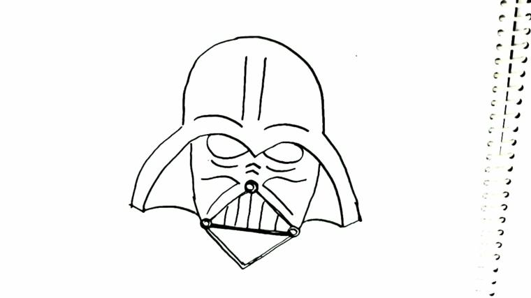 Disegni maschere di carnevale, disegno di Star Wars, travestimento per bambini