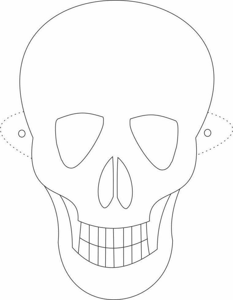 Disegni da colorare carnevale, disegno di un scheletro