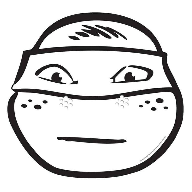 Maschere da ritagliare, disegno di Michelangelo, travestimento per bambini