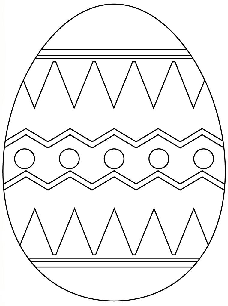 Disegni uova di Pasqua, disegno forme geometriche, cerchi e triangoli