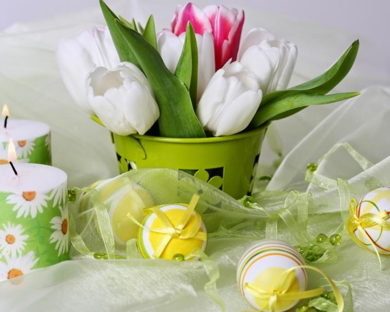 Lavoretti di pasqua scuola primaria, dipingere le uova, bouquet di fiori