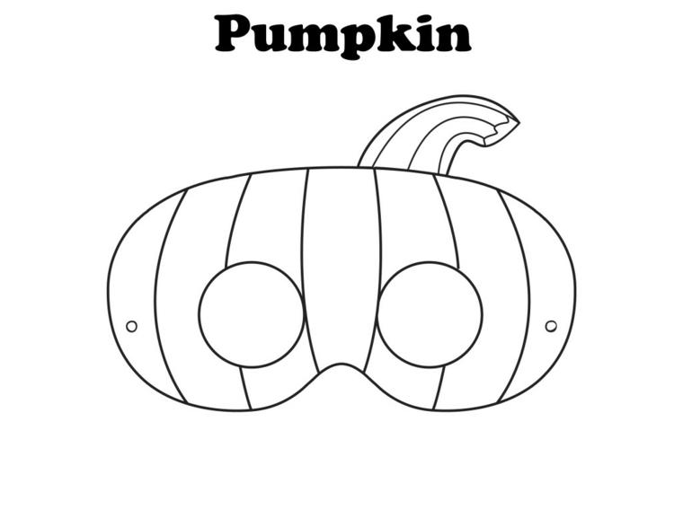 Maschera ritaglio zucca, maschere per bambini, travestimento per Halloween