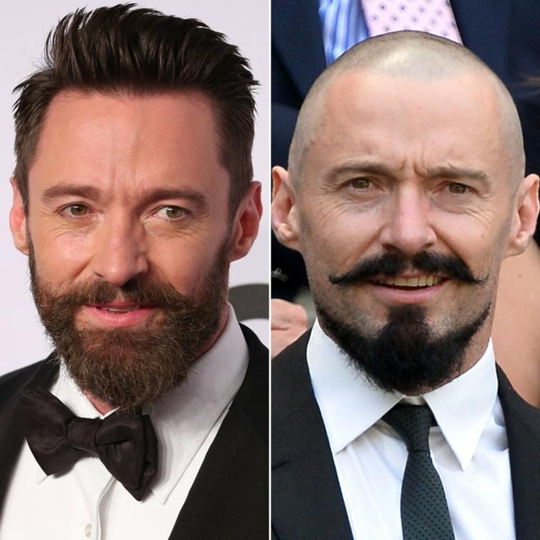 L'attore Hugh Jackman, uomini con barba, capelli corti uomo rasati