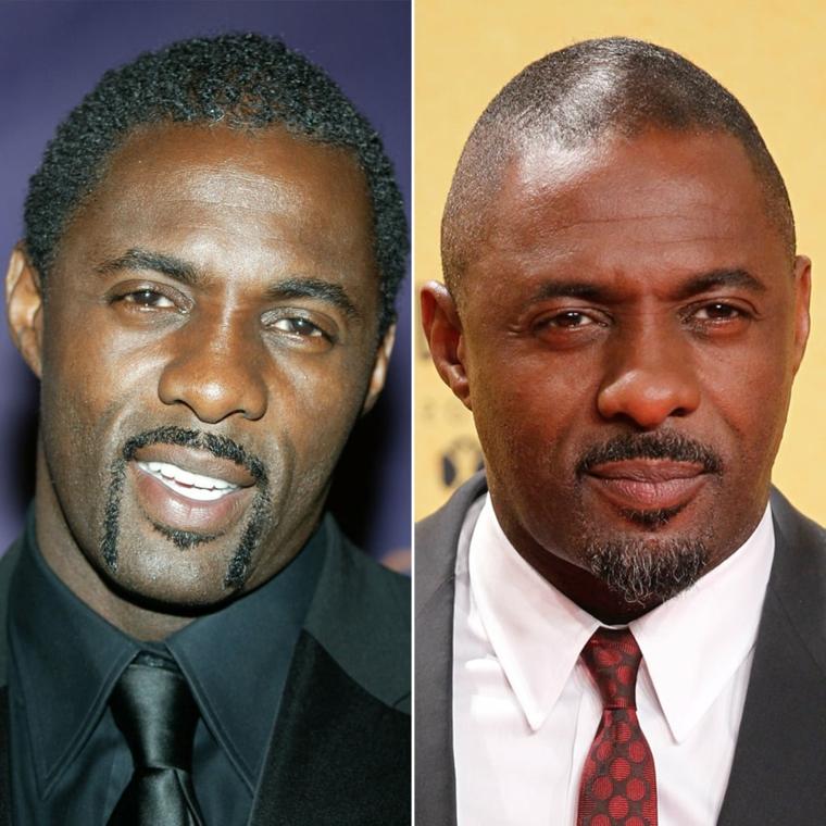 L'attore Idris Elba, tagli maschili corti, uomo con camicia bianca