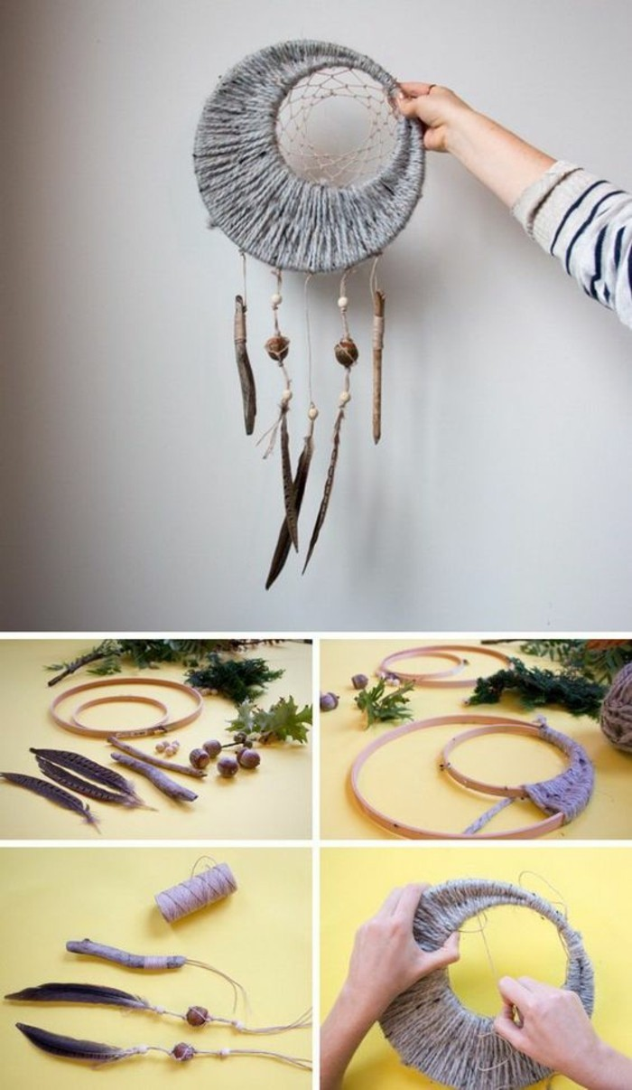 Idee regalo creative, acchiappasogni con piume, tutorial per fare acchiappasogni