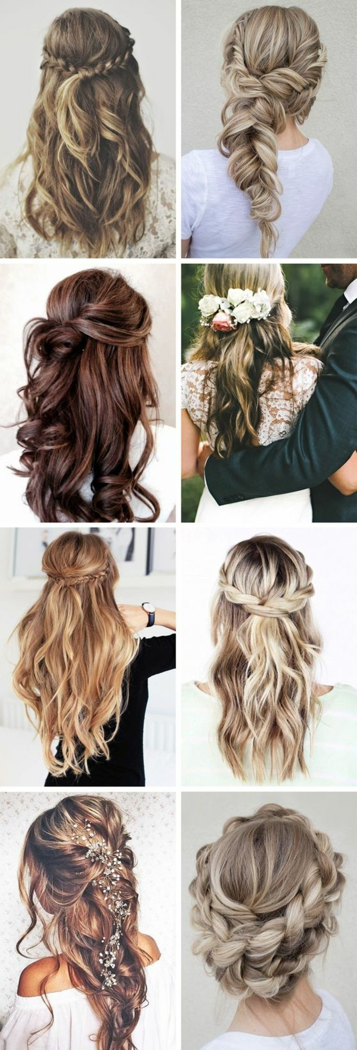 Acconciature capelli lunghi lisci, proposte pettinature, capelli con trecce