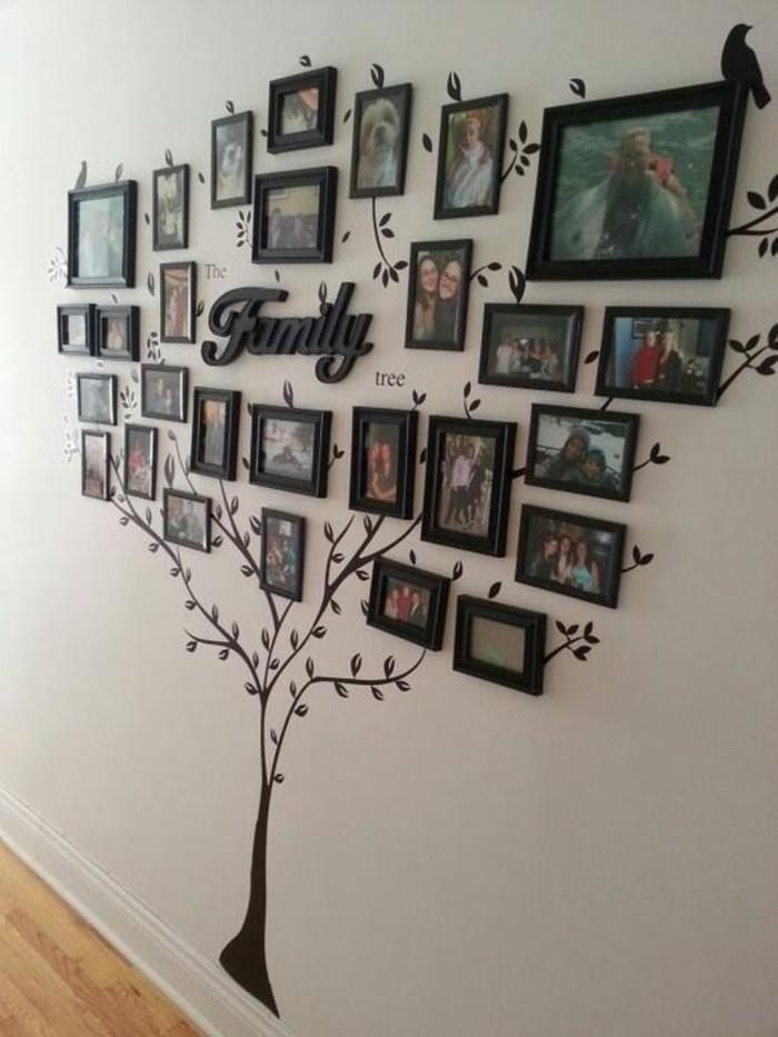 Scritte adesive per pareti, cornici con foto, parete con foto