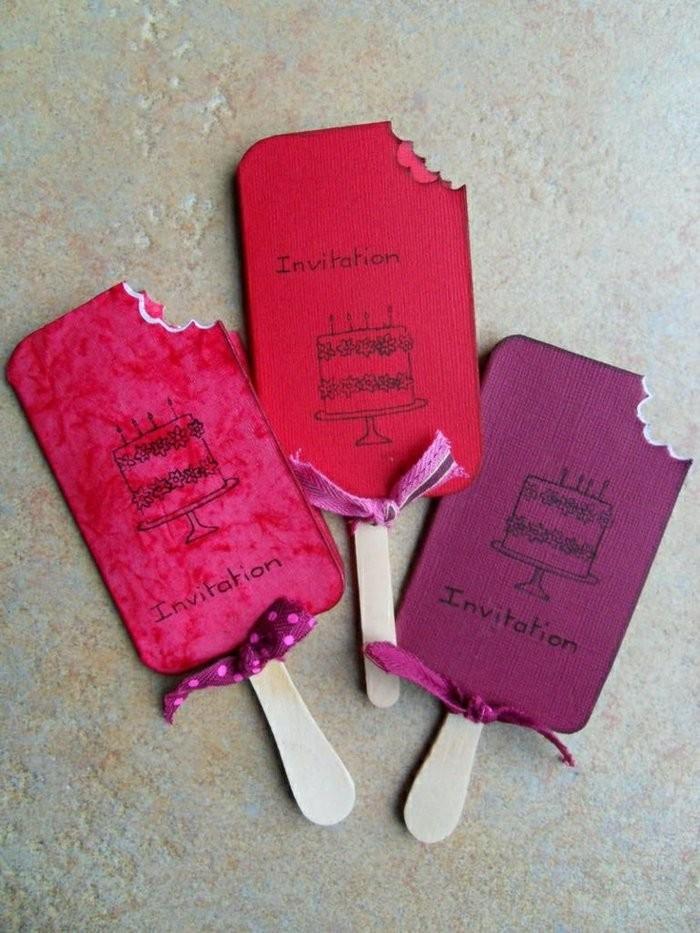 Lavoretti per compleanni, cartoline forma gelato, cartoncini colorati