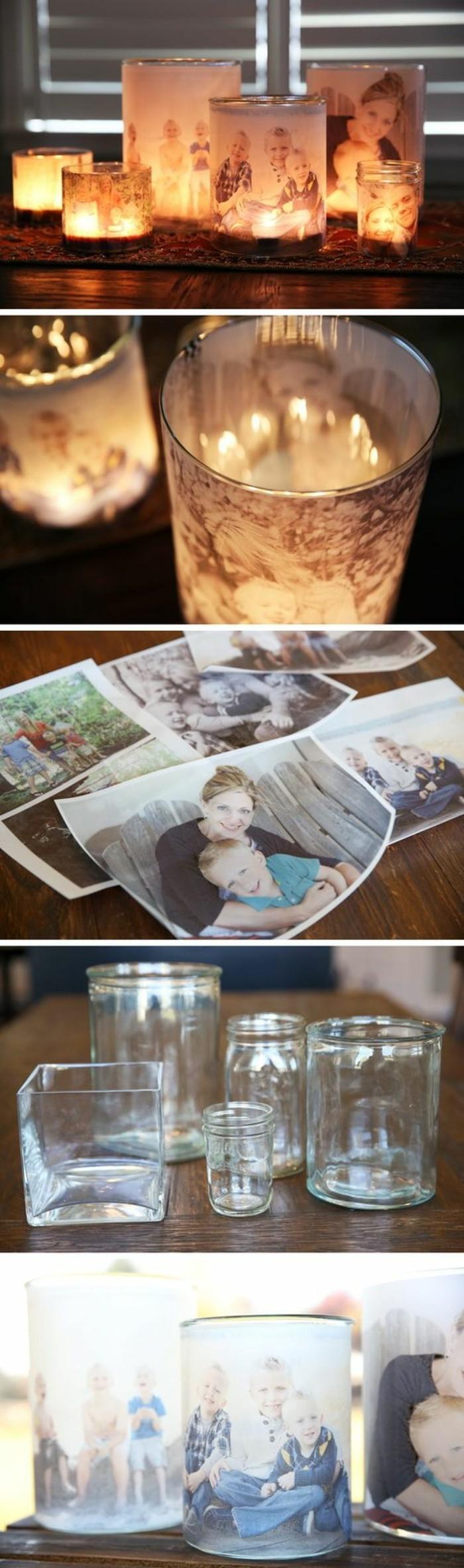 Portacandele con foto, idee regalo anniversario per lui
