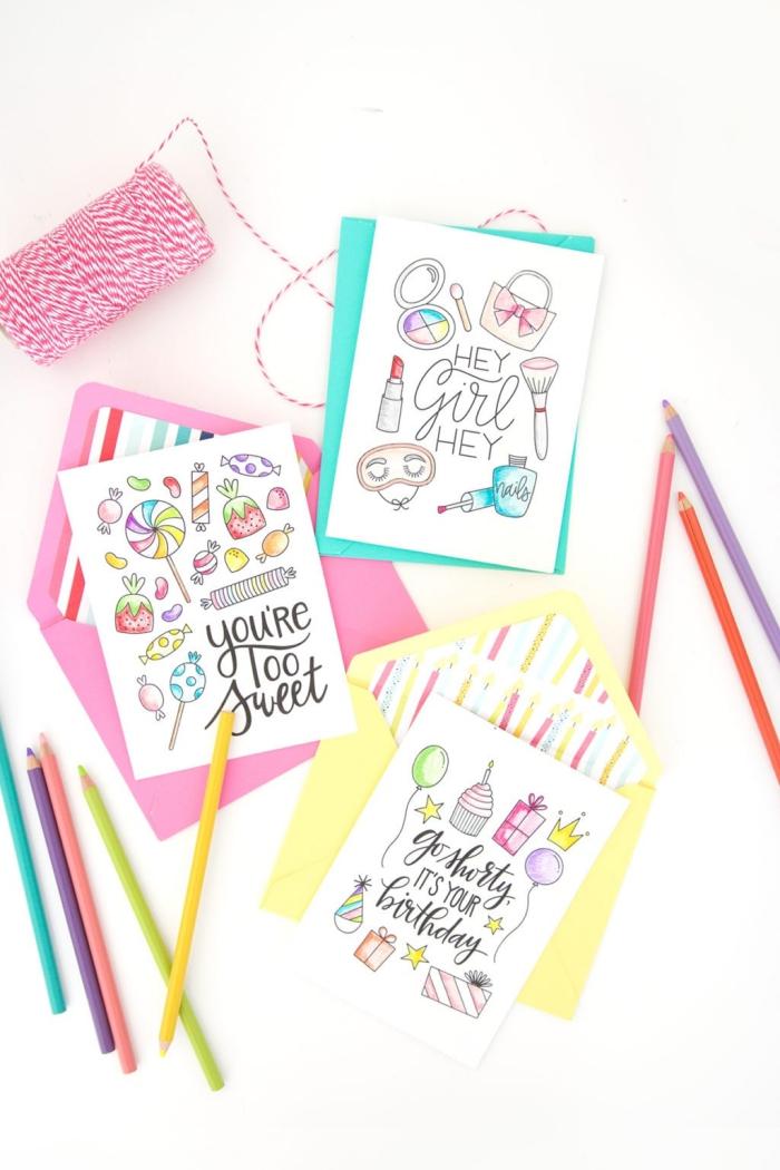 Biglietti auguri personalizzati online, cartoline con disegni, matite colorate