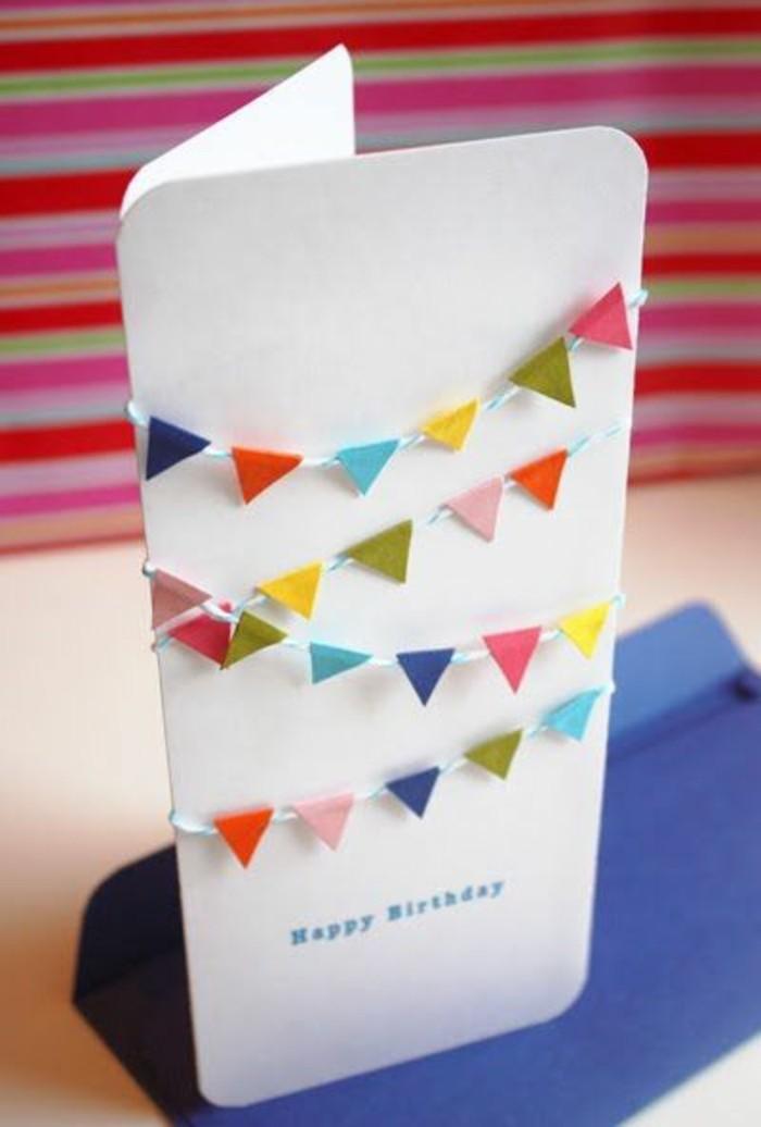 Bigliettino con foglio bianco, cartolina per bimba, scritta buon compleanno