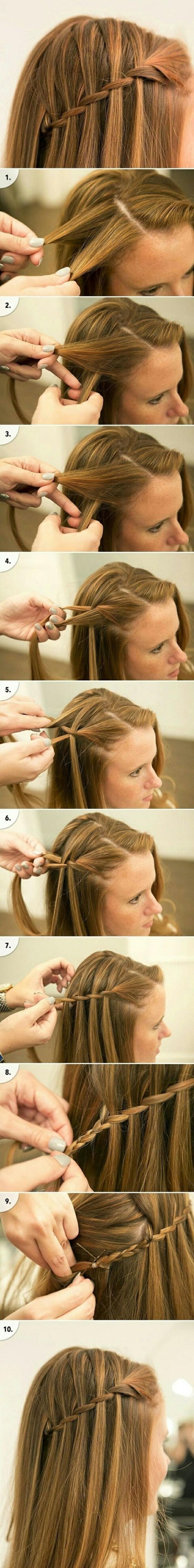 Acconciature semplici capelli medi, capelli di colore biondo, tutorial per fare le trecce