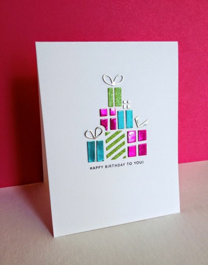 Regalo bimba, cartolina fatta a mano, stickers di pacchi regalo