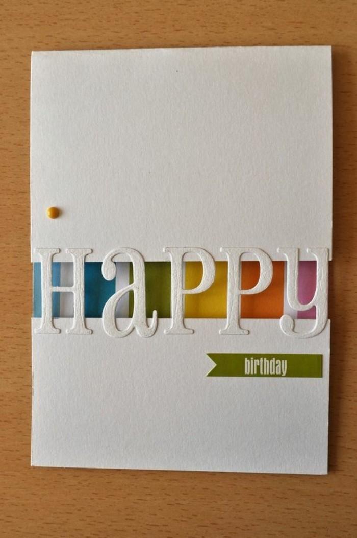 Cartolina con lettere intagliate, idee regalo per compleanno