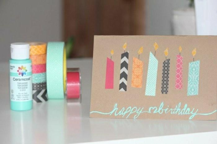 Materiali per fare cartolina, bigliettino compleanno fatto a mano, nastri washi tape