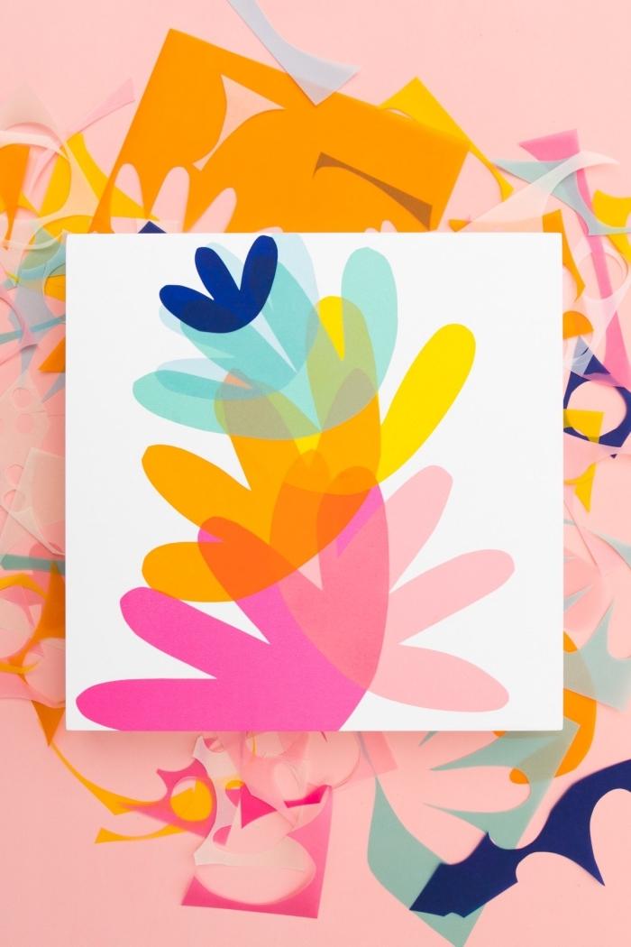 Foglio con ritagli, scritte adesive per pareti, ritagli di fogli colorati