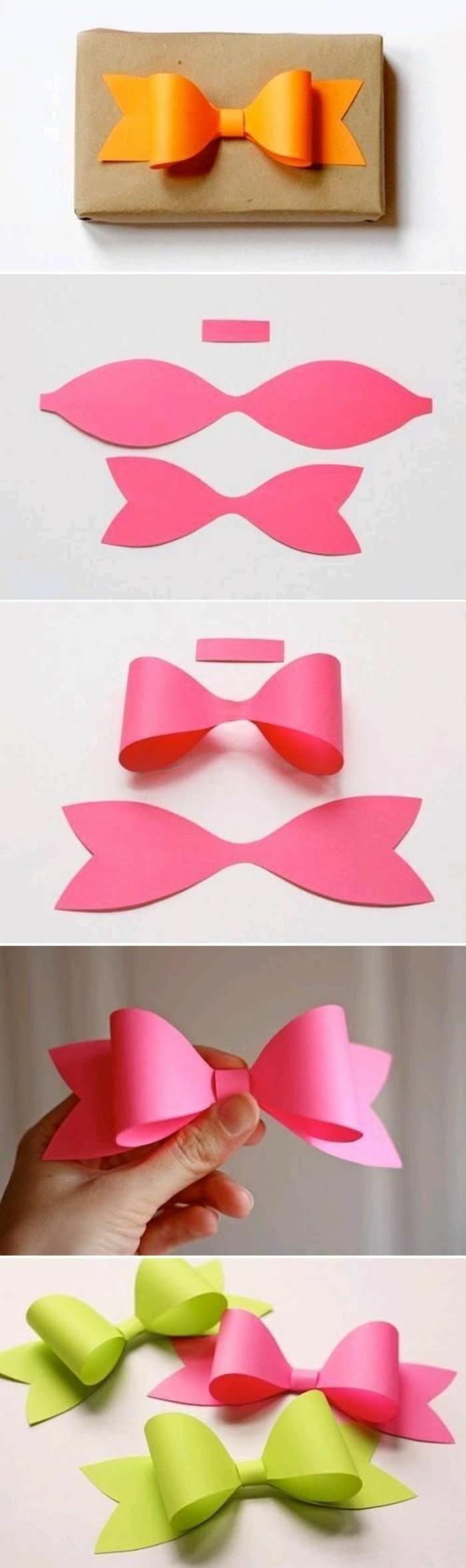 Tutorial per fare un fiocco, cartoncini colorati, fiocco per regali