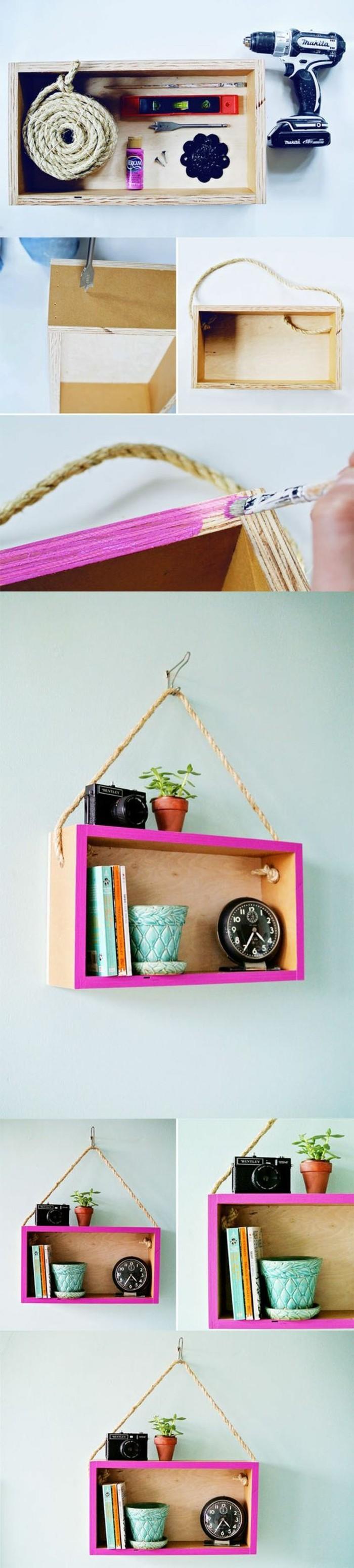Materiali per fare una mensola, dipingere con pennello, decorazioni da muro