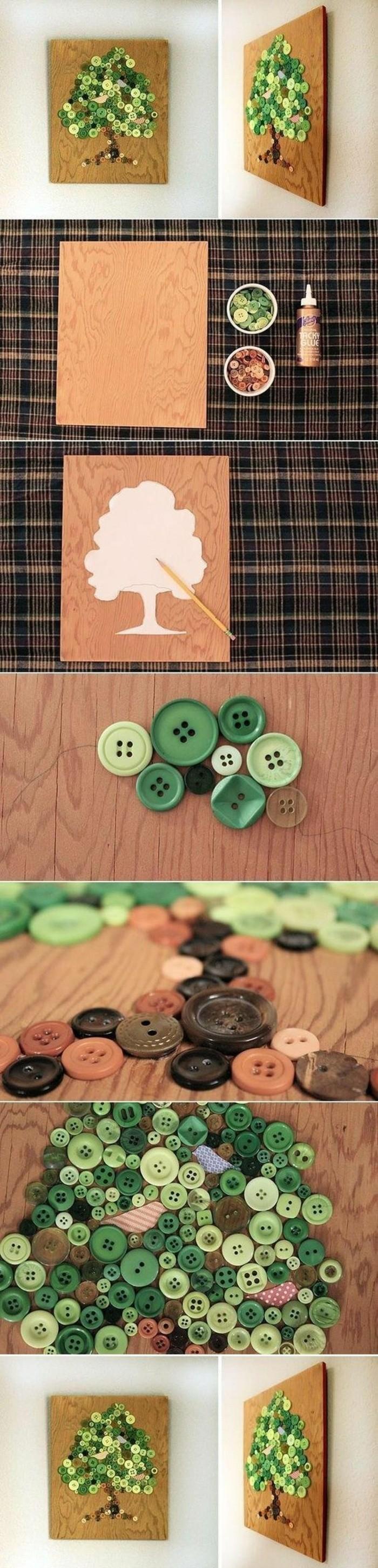 Tutorial lavoretto con bottoni, cornice con bottoni
